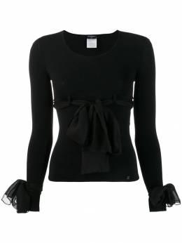 Chanel Pre-Owned блузка 2004-го года с декоративными бантами CHA750AH