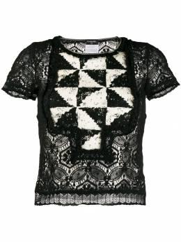 Chanel Pre-Owned блузка 2004-го года с геометричным узором CNL750