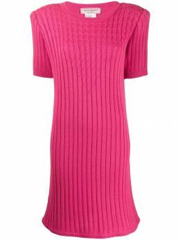 Yves Saint Laurent Pre-Owned трикотажное платье 1980-х годов в рубчик YVE280E