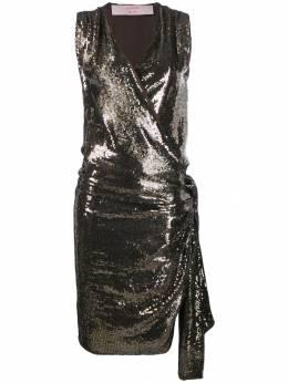 Lanvin Pre-Owned драпированное платье 2004-го года с пайетками LANV600