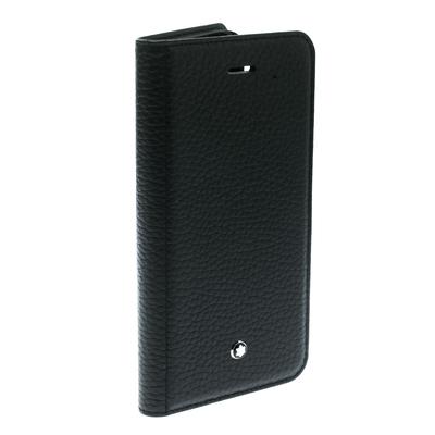 Montblanc Black Leather Flipside iPhone 8 Case 195629 - 2