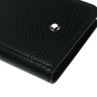 Montblanc Black Leather Flipside iPhone 8 Case 195629 - 8