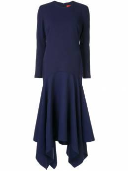 Solace London длинное платье асимметричного кроя OS23051