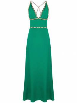 Balenciaga Pre-Owned длинное платье с декором CSLM1218BALDRE