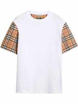 Burberry футболка с рукавами в клетку Vintage Check 8014896