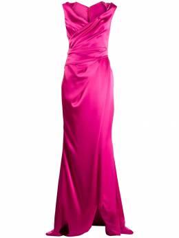 Talbot Runhof длинное платье с драпировкой TOWANDA2WT10