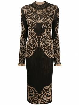 Fendi трикотажное платье Loungette FZD782A8UR