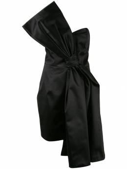 Paule Ka атласное платье с бантом 170R512C