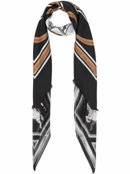 Burberry квадратный шарф с принтом 8016447