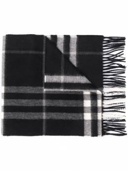 Burberry кашемировый шарф в клетку 8015537