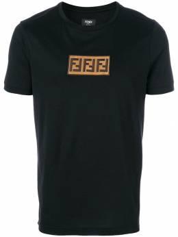 Fendi футболка с логотипом 'FF' FY0894A28U