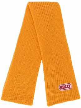 Gucci шарф с нашивкой логотипа 5278114G206