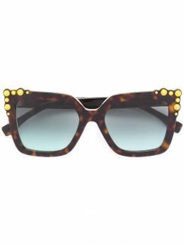 Fendi Eyewear солнцезащитные очки в массивной квадратной оправе FF0260S