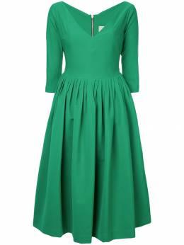 Preen By Thornton Bregazzi расклешенное платье с глубоким вырезом 442