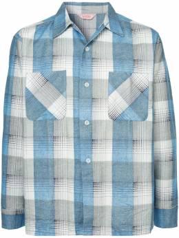 Fake Alpha Vintage фланелевая рубашка 1950-х годов LS0023