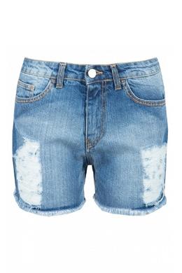 Джинсовые шорты с потертостями Blugirl 1916144403