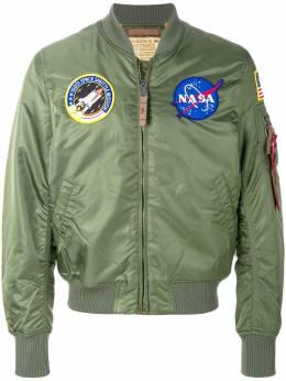 Alpha Industries куртка бомбер с нашивками 166107