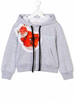 Natasha Zinko Kids flower patch drawstring hoodie PF1881805I