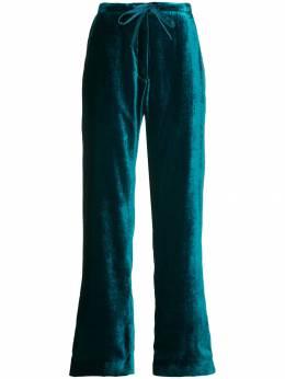 Mira Mikati бархатные брюки в пижамном стиле TRS004AAW18M