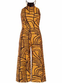 Andrea Marques wide leg cropped jumpsuit MACACAODECALTO