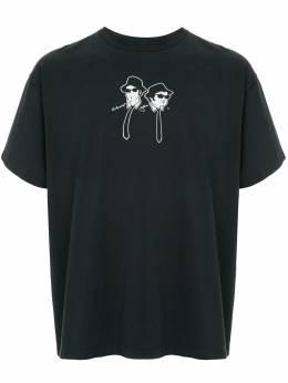Fake Alpha Vintage футболка с принтом 'Blue Brothers' TS0084
