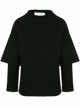 Strateas Carlucci свитер в стиле оверсайз с короткими рукавами SCWM1MTOP001BLK