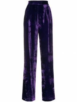 Erika Cavallini velvet high waisted trousers P8AU05