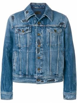Saint Laurent джинсовая куртка с эффектом потертости 500729YE883