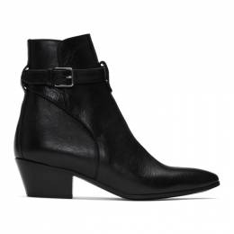 Saint Laurent Black Wyatt Jodhpur Boots 579169 0ZZ00