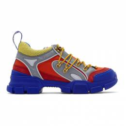Gucci Orange and Blue Flashtrek Sneakers 543149 9PYN0