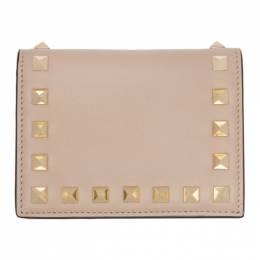 Valentino Pink Valentino Garavani Small Rockstud Wallet TW2P0P39BOL
