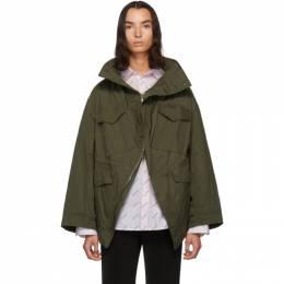 Balenciaga Khaki Twill Swing Jacket 583880-TBP01