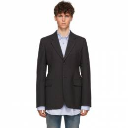 Balenciaga Grey Hourglass Single-Breasted Coat 583840 TFT01
