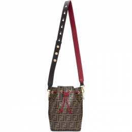 Fendi Black and Red Forever Fendi Mon Tresor Bag 8BT298 A6AE