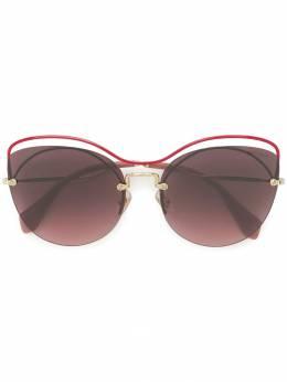 Miu Miu Eyewear массивные декорированные солнцезащитные очки SMU50T