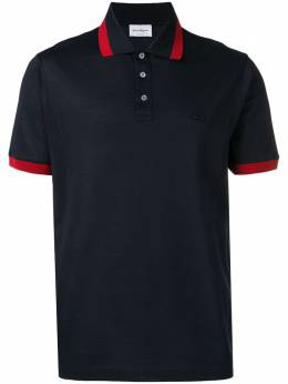 Salvatore Ferragamo рубашка-поло с отделкой Gancini 707996
