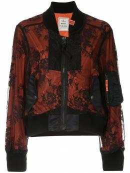Maison Mihara Yasuhiro куртка-бомбер с кружевной вставкой B02BL131