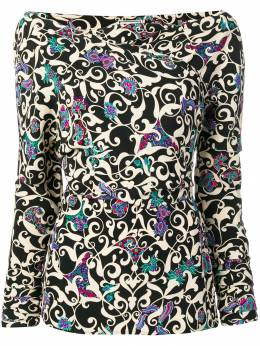 Versace Pre-Owned блузка 1990-х годов с узором VRSCSHRT001