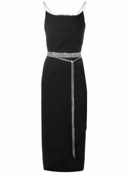 Yohji Yamamoto Pre-Owned платье оригинального кроя с цепочками FMD31410