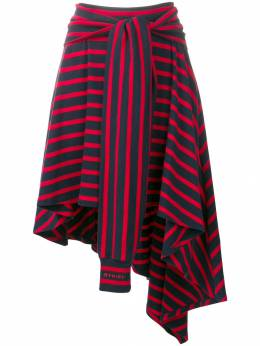 Sonia Rykiel юбка асимметричного кроя в полоску 13504212FA