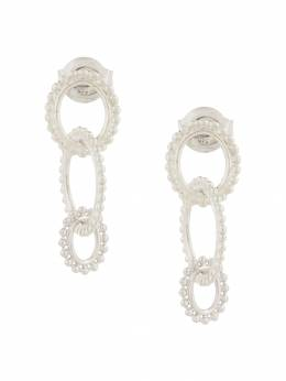 Natalie Marie dotted oval drop earrings AW18109STG