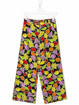 Stella McCartney Kids широкие брюки с изображением фруктов 540954SMK64