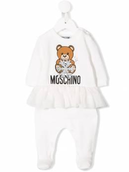 Moschino Kids комбинезон для новорожденного Teddy Bear MDT00XLDA14