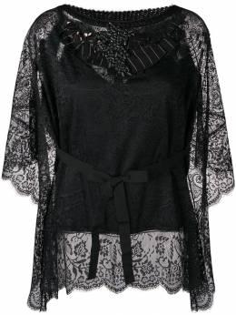 Antonio Marras кружевная блузка с украшением из камней 1N8730MHO7