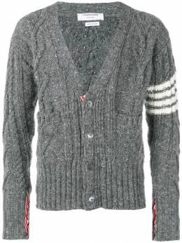 Thom Browne кардиган фактурной вязки с полосками 4-Bar MKC220A00278