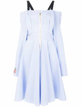 Natasha Zinko платье в полоску с аппликацией PF810612