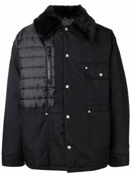 Maison Margiela пальто с меховым воротником S30AM0421S49413