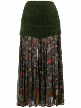 Versace Pre-Owned юбка миди плиссированная с цветочным принтом ACE320