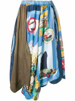 Comme Des Garcons Pre-Owned юбка миди с принтом CDG992
