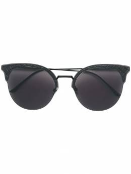 Bottega Veneta Eyewear Intrecciato cat eye sunglasses 521032V4450